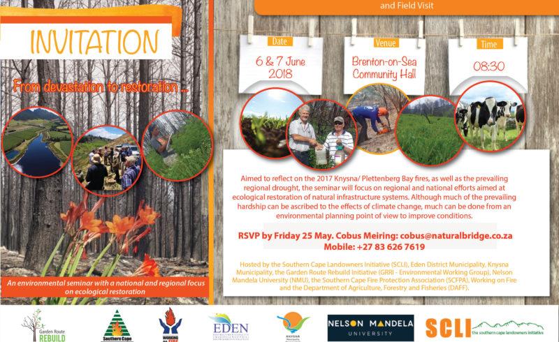 Invitation Garden Route Environmental Restoration Seminar 6 and 7 June D